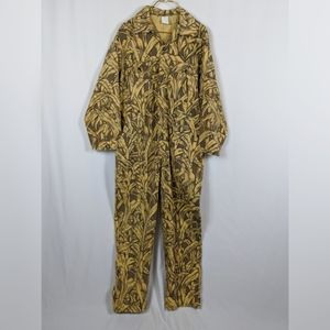 Cornfield Camo Coveralls One Piece Hunting Vintage